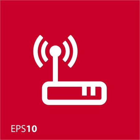 dsl: Wireless modem icon for web Illustration
