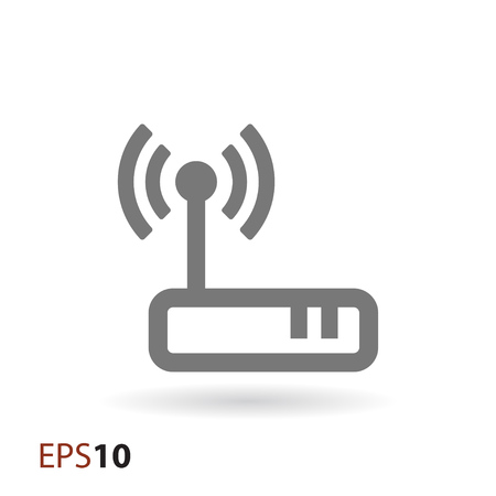 Wireless modem icon for web Illustration