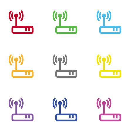 modem: Wireless modem icon for web Illustration