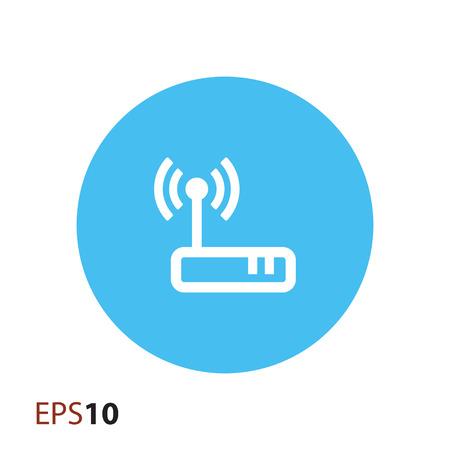 ethernet: Wireless modem icon for web Illustration