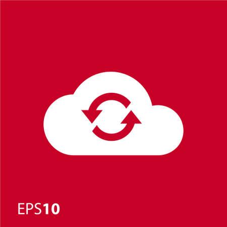 sync: Cloud sync icon for web