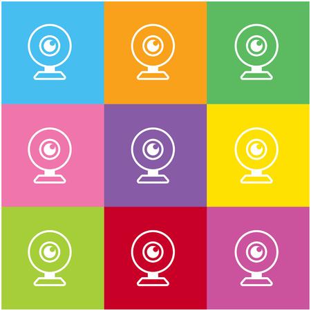 web camera: Web camera icon for web