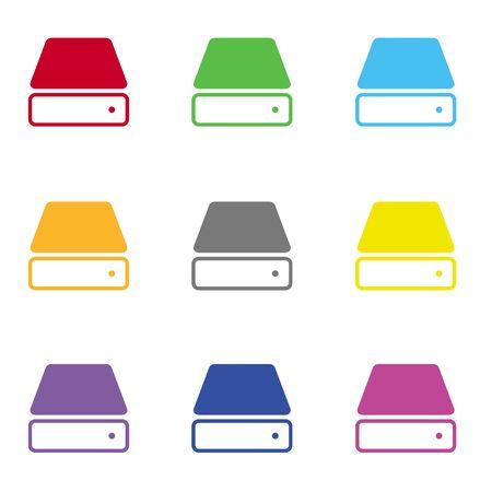 harddisk: Hard drive icon for web Illustration