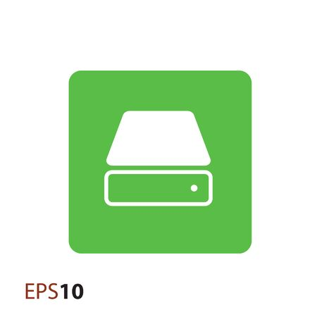 hard drive: Hard drive icon for web Illustration