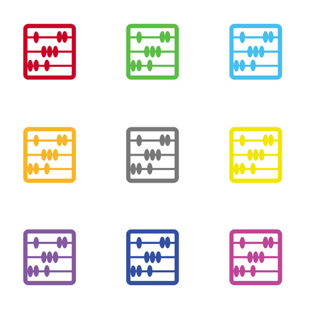 educational tools: Minimalistic abacus icon for web