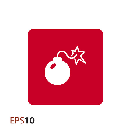 explosion risk: Minimalistic bomb icon for web