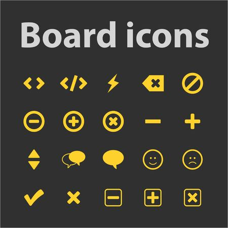 Board icons set for web