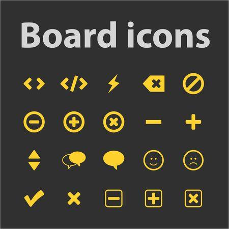 backspace: Board icons set for web