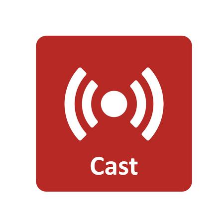 web cast: Wireless cast icon for web