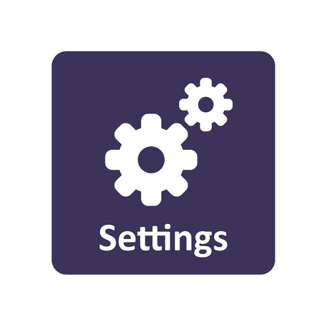 wheel change: Settings icon for web and UI Illustration