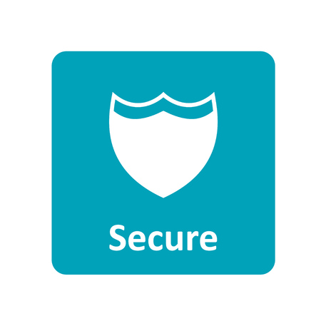 secure: Secure shield icon for web
