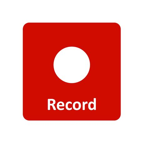 rec: Record icon for web and UI Illustration