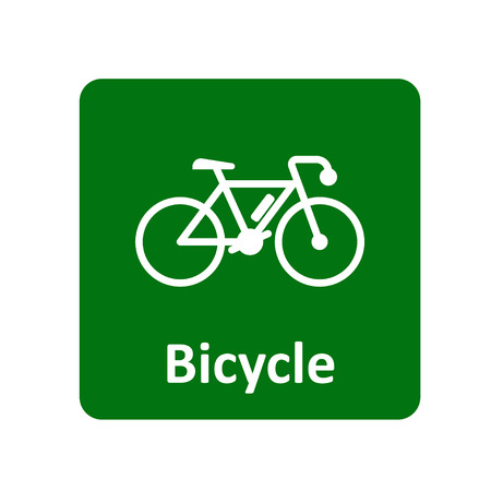 mountain silhouette: Bicycle icon for web and UI