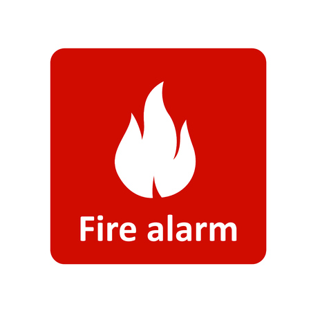 Fire alarm icon for web