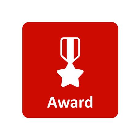 medal ribbon: Award medal ribbon icon for web and UI