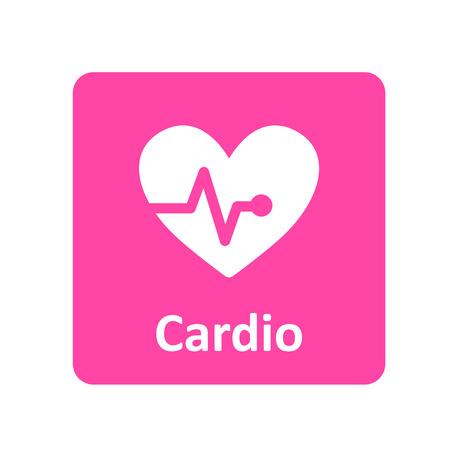 cardio: Cardio pulse heart icon for web and UI