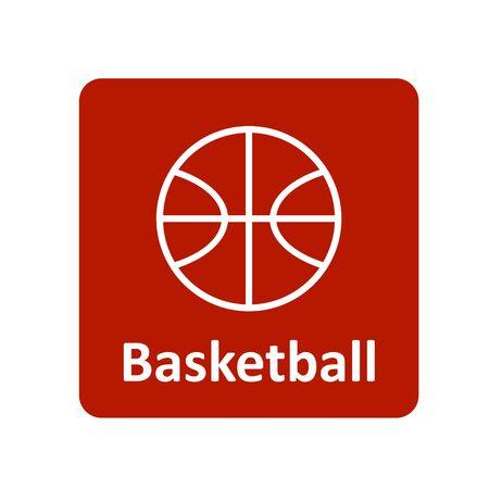 bal: Basketball icon for web and UI Illustration