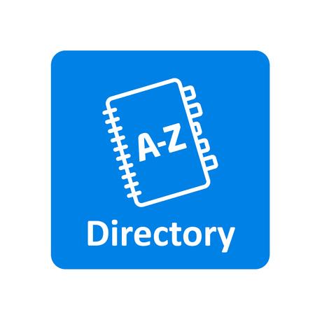 Directory icon for web and UI Ilustração Vetorial