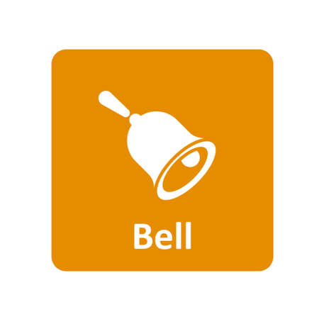 hand bell: Hand bell icon for web and UI Illustration