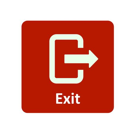 exit icon: Exit icon for web and UI Illustration