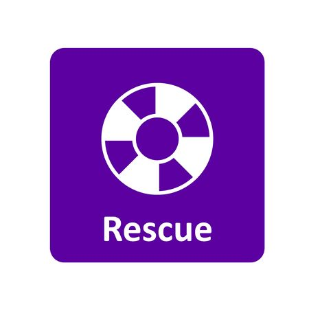 survive: Rescue icon for web and UI