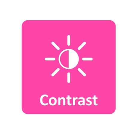 Contraste icône pour le Web et l'interface utilisateur
