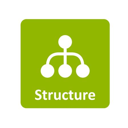 organisational: Structure icon for web and UI