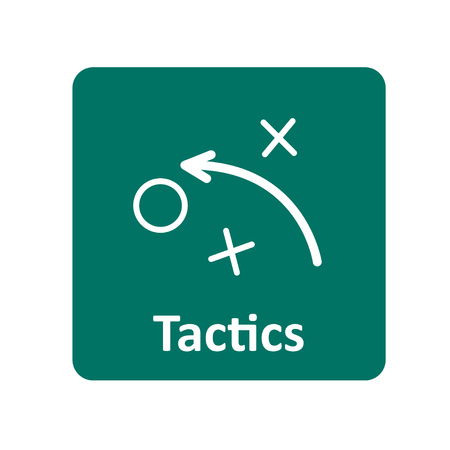tactics: Tactics icon for web and UI