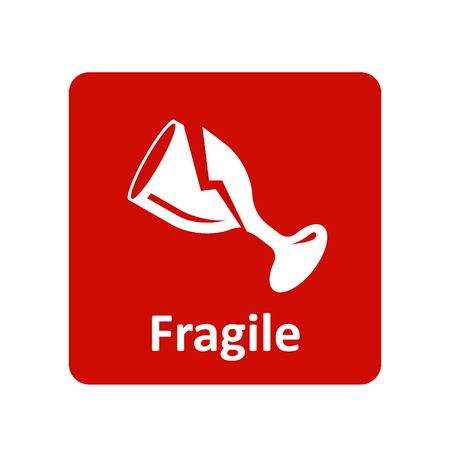 Fragile icon for web and UI