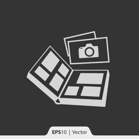 photo album: Photo album vector icon for web and print