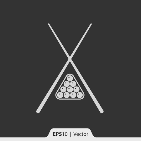 pool rooms: Billiard vector icon for web and print