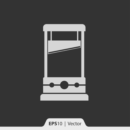 capital punishment: Guillotine vector icon for web and print