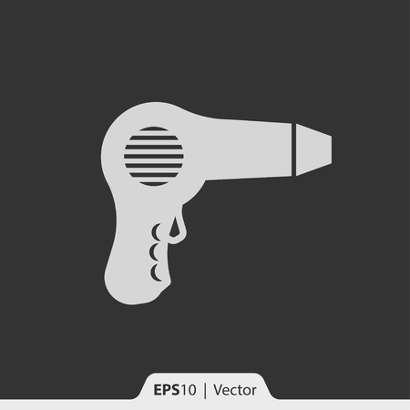 blow drying: Hair dryer vector icon for web and print