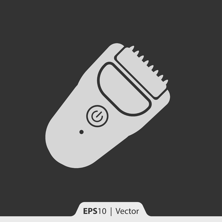 clipper: Hair trimmer clipper vector icon for web and print