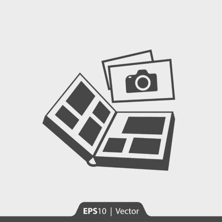 photo icon: Photo album vector icon for web and print