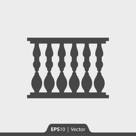 balustrade: Baluster vector icon for web and print Illustration