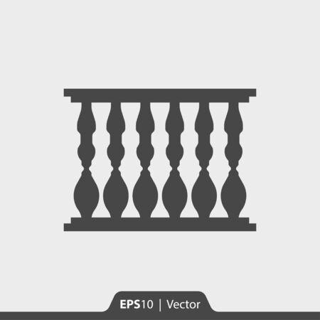 Baluster vector pictogram voor web en print