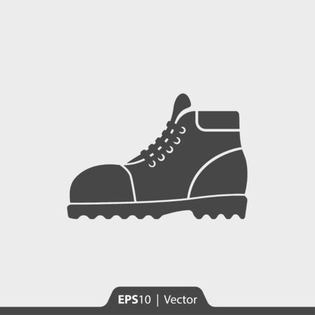 Leather boots vector icon for web and print