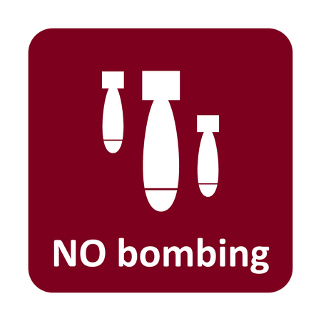 nuke: No bombing vector icon for web and print