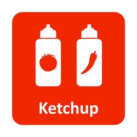 chili sauce: Tomato ketchup and chili sauce vector icon for web
