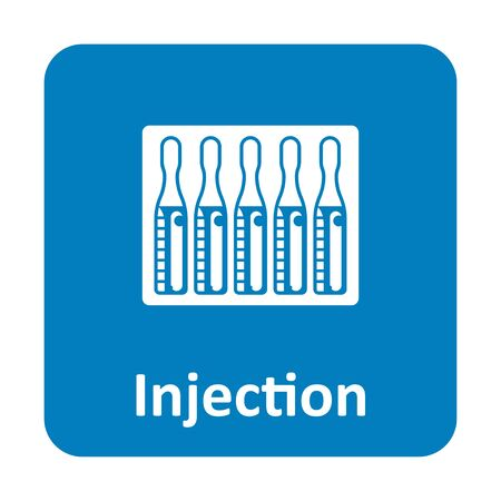 ampule: Ampule injection vector icon for web and print