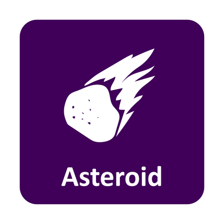 asteroid: Asteroid burning in space vector icon for web