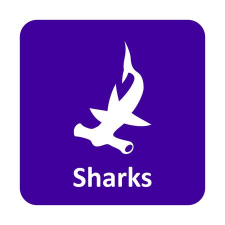 pez martillo: Hammerhead icono del vector de tibur�n para web e impresi�n Vectores