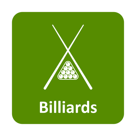 snooker rooms: Billiard vector icon for web and print