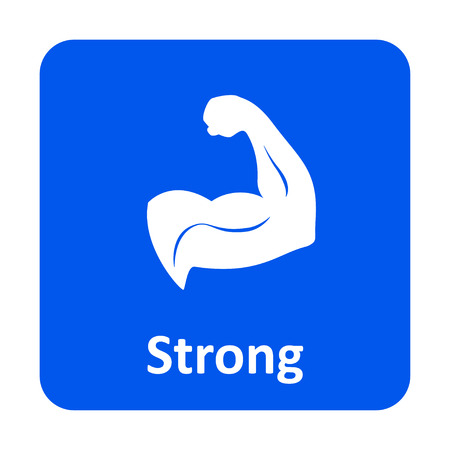 strong arm: Strong arm vector icon for web and print