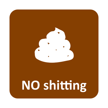 excrement: No shitting vector icon for web and print Illustration