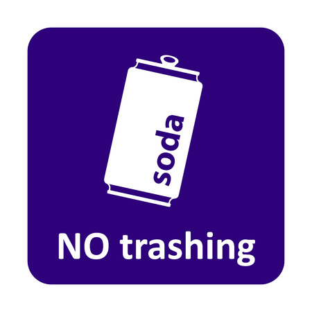 soda can: Soda can no trashing vector icon for web and print Illustration