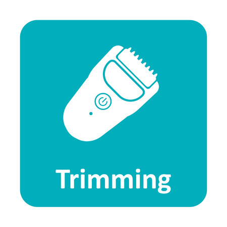 trimmer: Hair trimmer clipper vector icon for web and print
