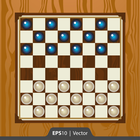checkers: Checkers set for game development interface design
