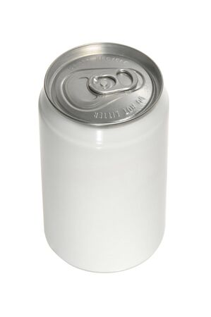 isolated Aluminum soda can with blank white label Stock Photo - 3994252